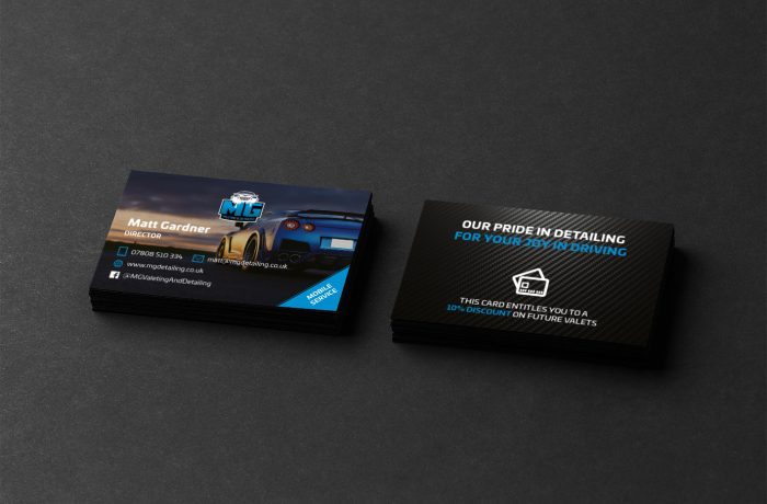 MG Valeting and Detailing Business Cards