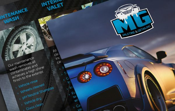 MG Valeting and Detailing A5 Leaflets