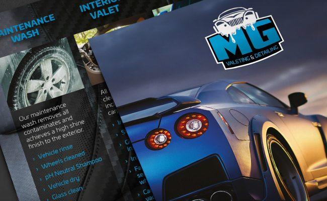 MG Detailing Leaflets Front