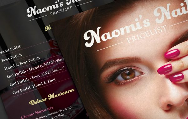 Naomi's Nails A5 Leaflets