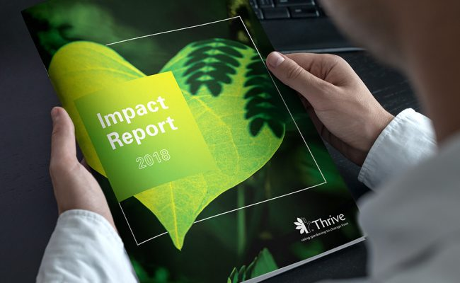 Thrive Impact Report – Cover