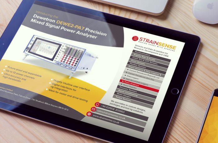 StrainSense product advert design